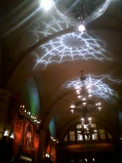 天井に蜘蛛の巣